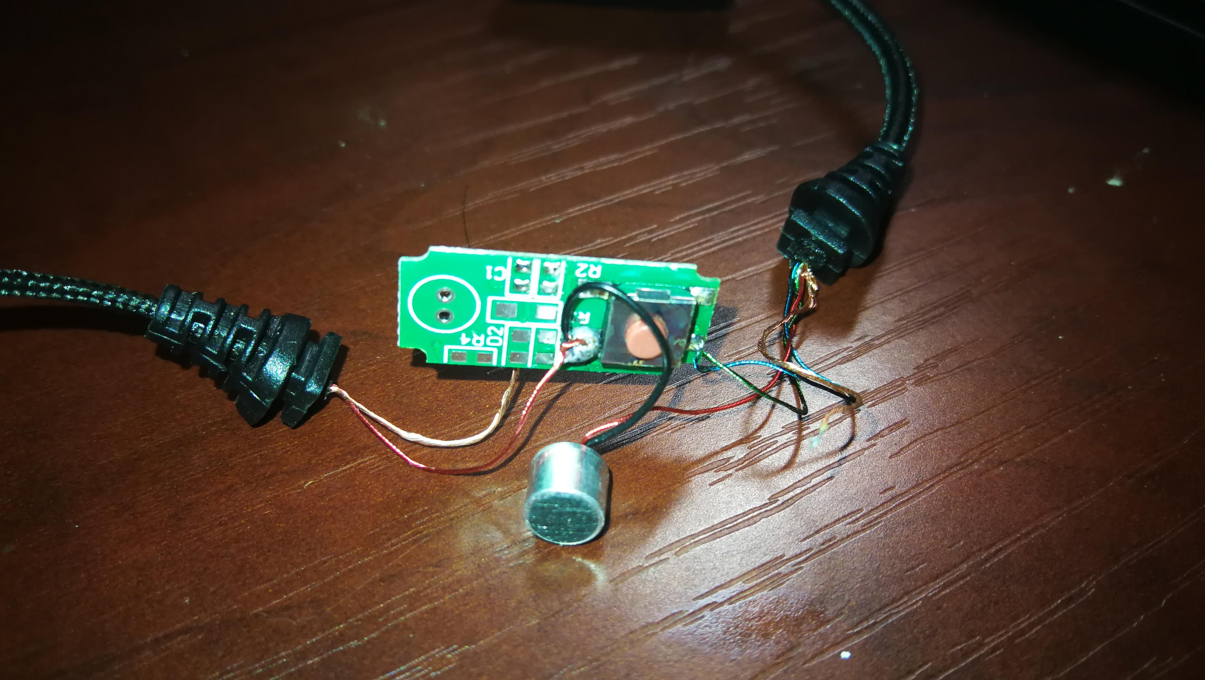 修好了对讲机耳机